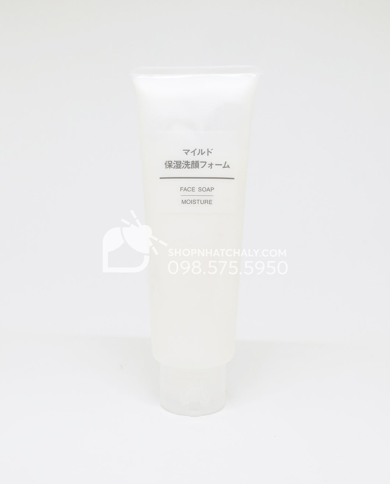 Sữa rửa mặt Muji Face Soap Moisture của Nhật Bản 120g