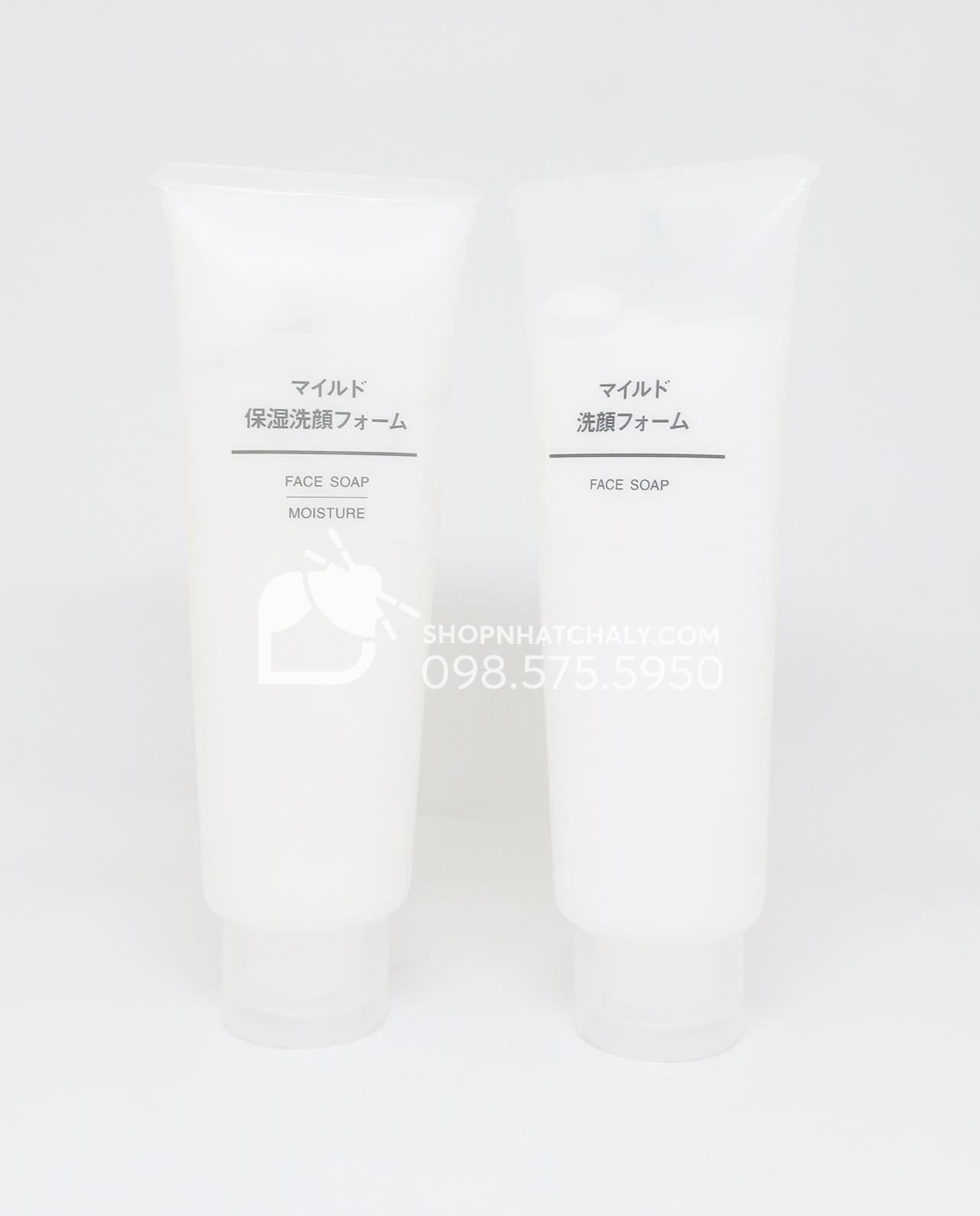 Sữa rửa mặt Muji Face Soap của Nhật Bản 120g