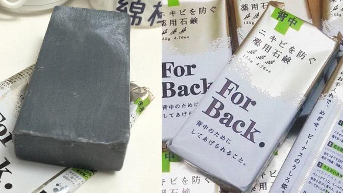Xà phòng trị mụn For Back có thành phần than hoạt tính giúp kháng khuẩn hiệu quả