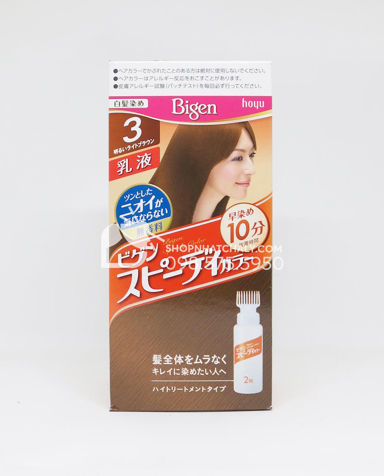 Thuốc nhuộm tóc Bigen Speedy 3G dạng bình