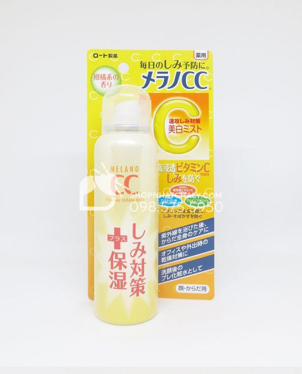 Xịt khoáng Melano CC White Mist Nhật Bản