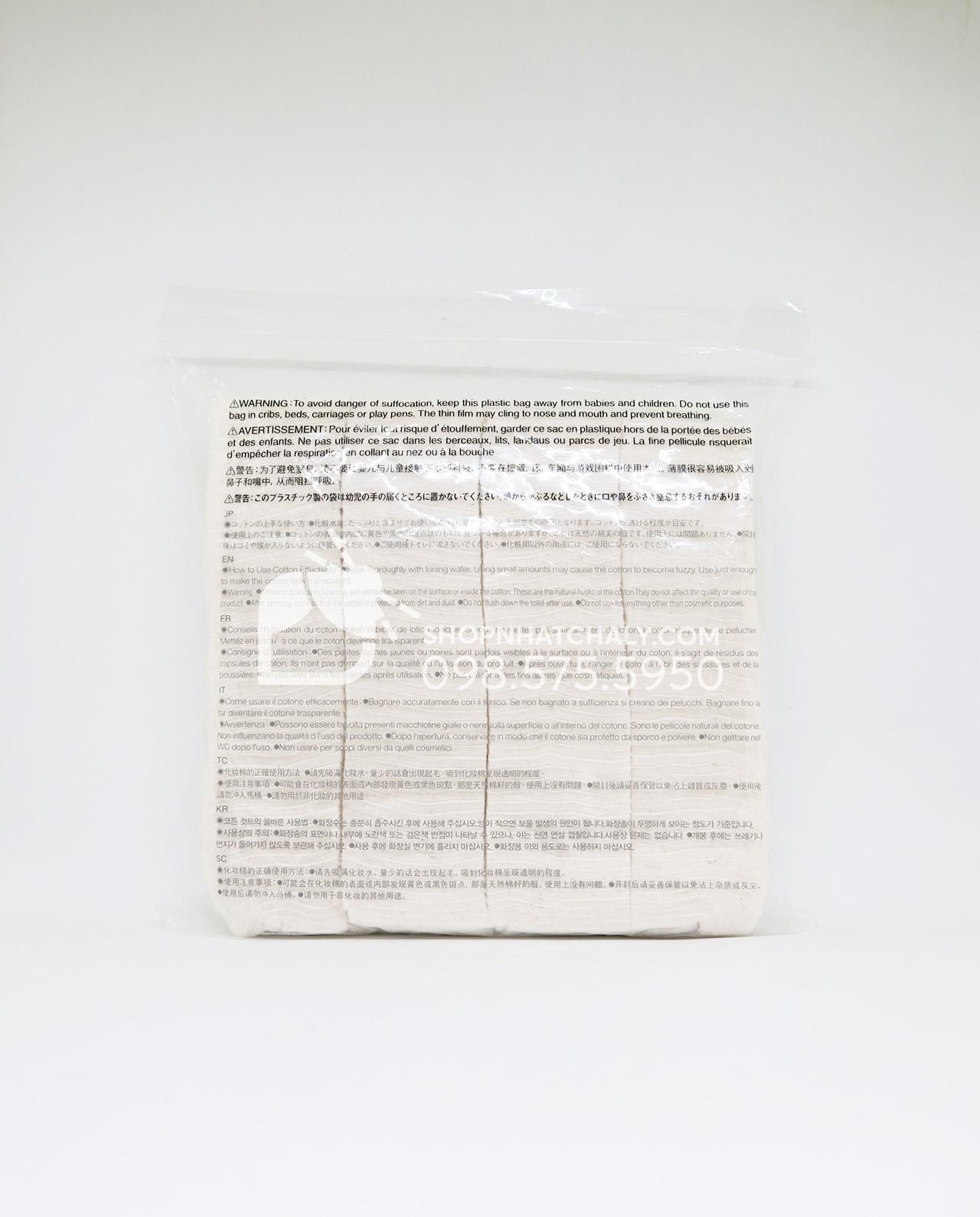 Bông tẩy trang Muji Organic Cotton Nhật Bản - thông tin sản phẩm