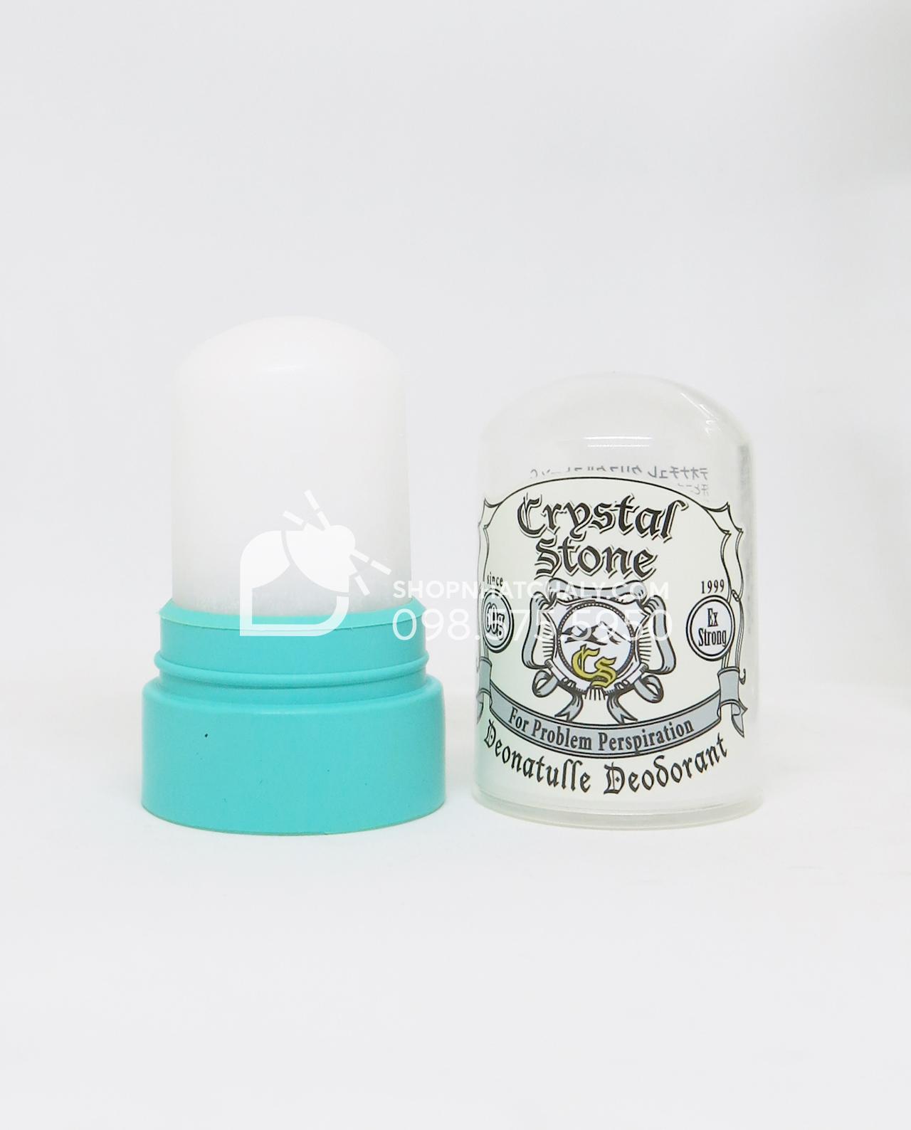 Đá khoáng khử mùi Crystal Stone Nhật Bản 60gr bên trong
