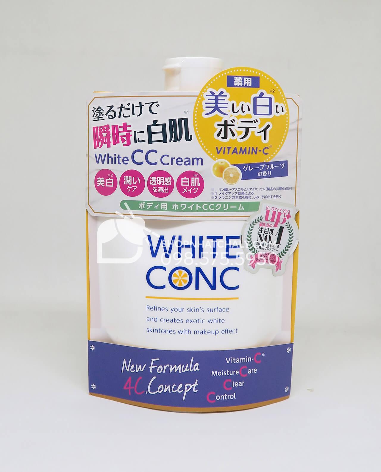 Kem makeup body trắng da toàn thân tạm thời White Conc Nhật Bản mẫu mới