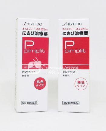 Kem trị mụn Shiseido Pimplit có màu 18gr và không màu 15gr của Nhật