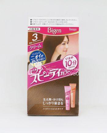 Thuốc nhuộm tóc Bigen Speedy dạng tuýp màu nâu 3G