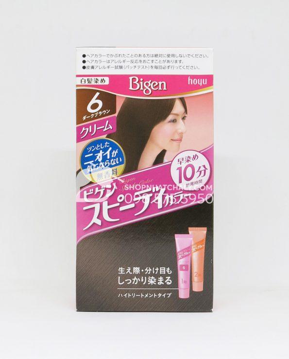 Thuốc nhuộm tóc Bigen Speedy dạng tuýp màu nâu 6G