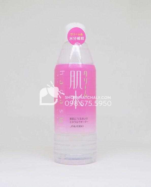 Nước xịt khoáng Shiseido Hadasui 400ml Nhật Bản - Hồng Creamy moisture