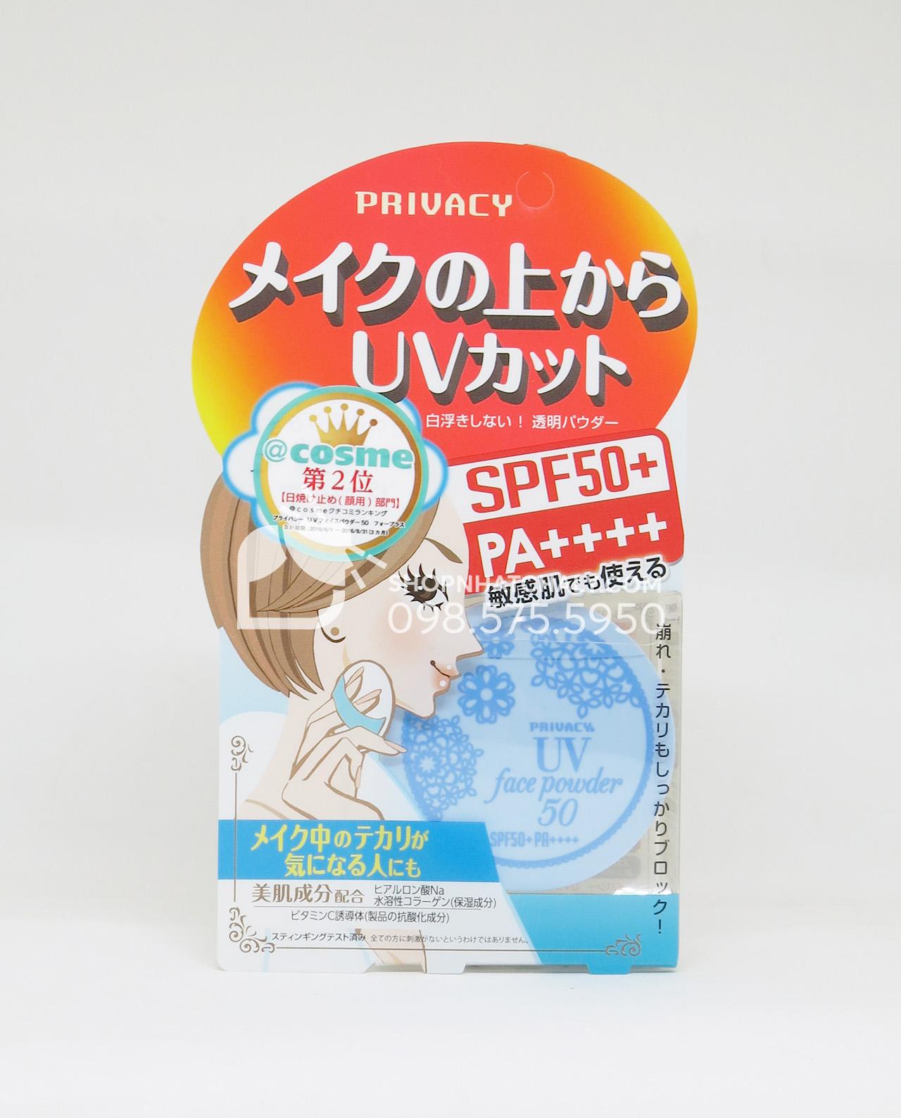 Phấn phủ chống nắng cho da nhạy cảm Privacy Nhật Bản