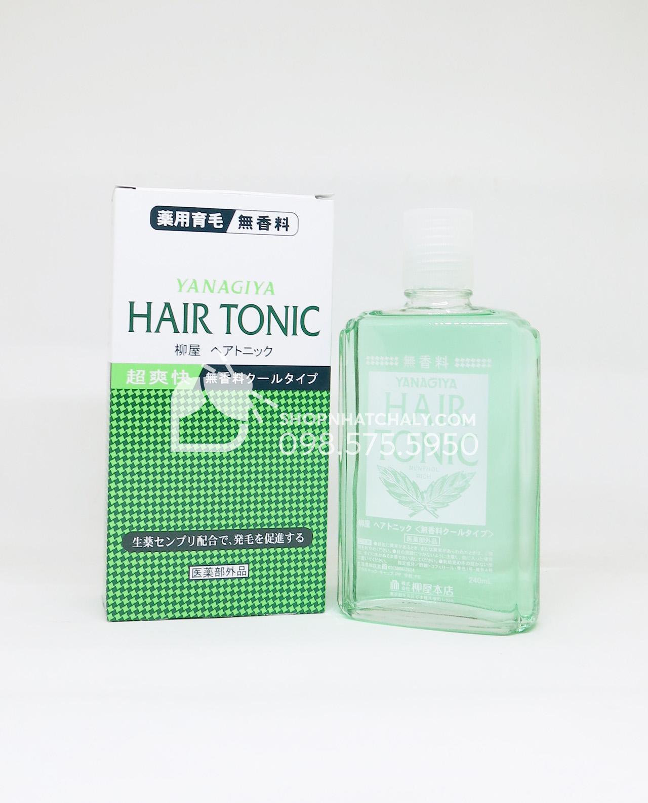Thuốc chống rụng tóc và kích thích mọc tóc trị hói Nhật Bản Hair Tonic Yanagiya chai màu nhạt