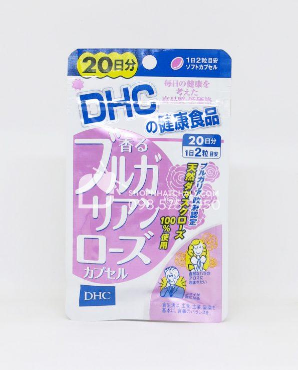 Viên uống thơm cơ thể DHC Nhật Bản tinh dầu hoa hồng Bulgaria