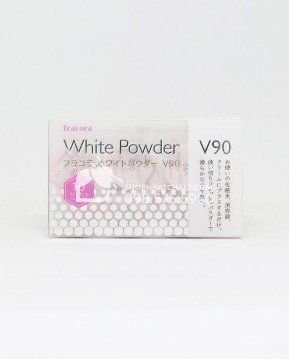 Bột dưỡng trắng da Fracora White Powder V90 Nhật Bản