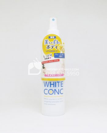 Lotion xịt dưỡng thể trắng da White Conc Nhật Bản