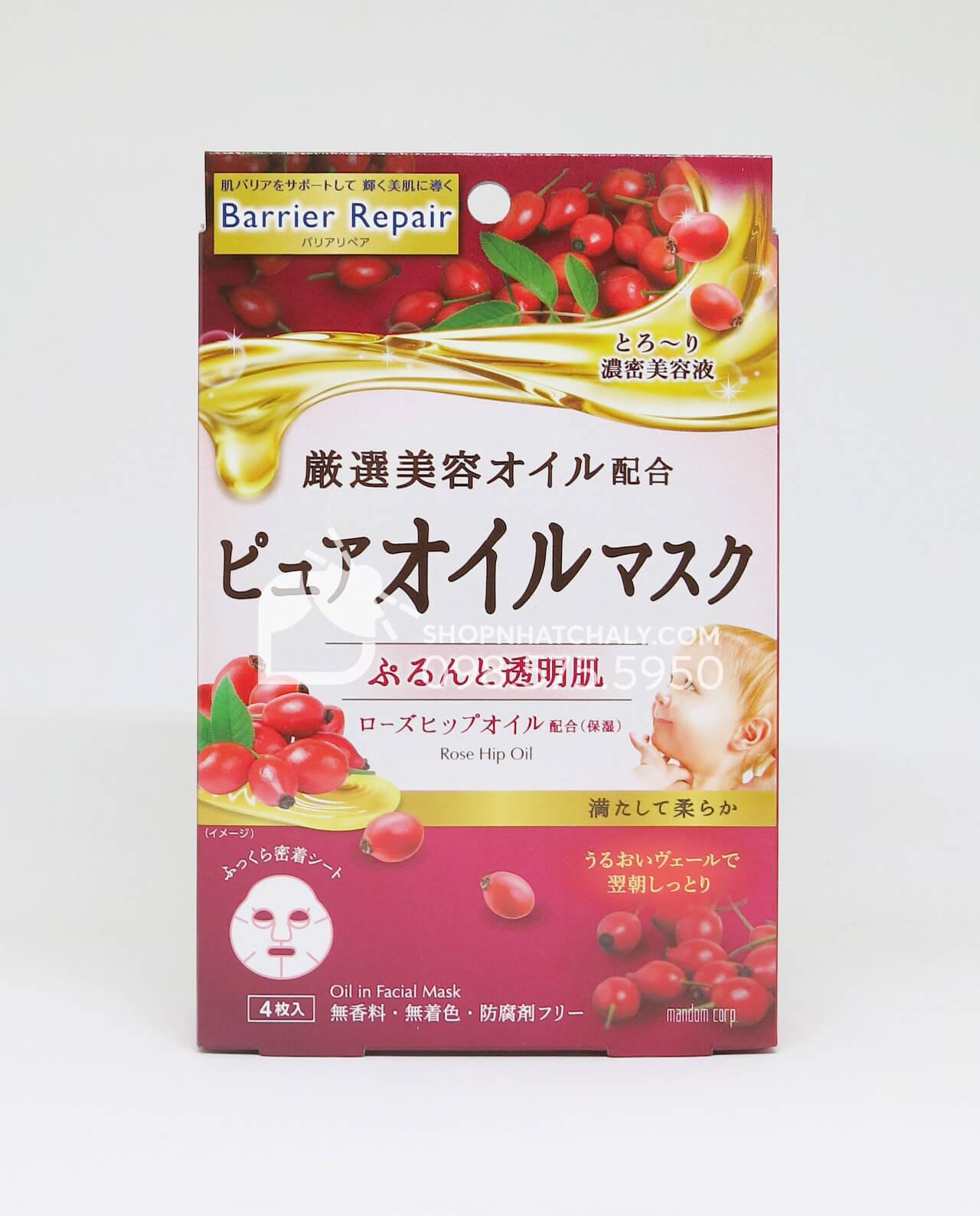 Mặt nạ chống lão hóa tinh chất quả tầm xuân Rosehip Oil Mask Barrier Repair Nhật Bản