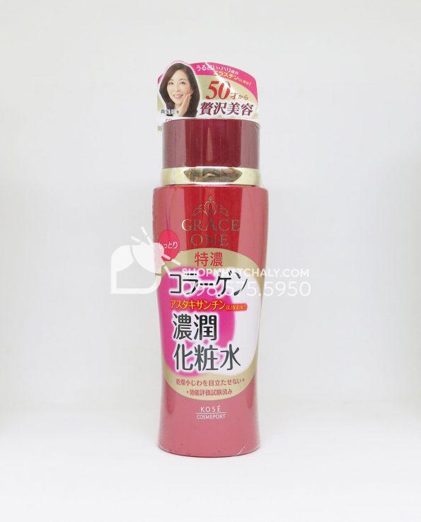 Nước hoa hồng Collagen Kose Grace One Nhật dành cho phụ nữ trên 50 tuổi đỏ giảm nhăn