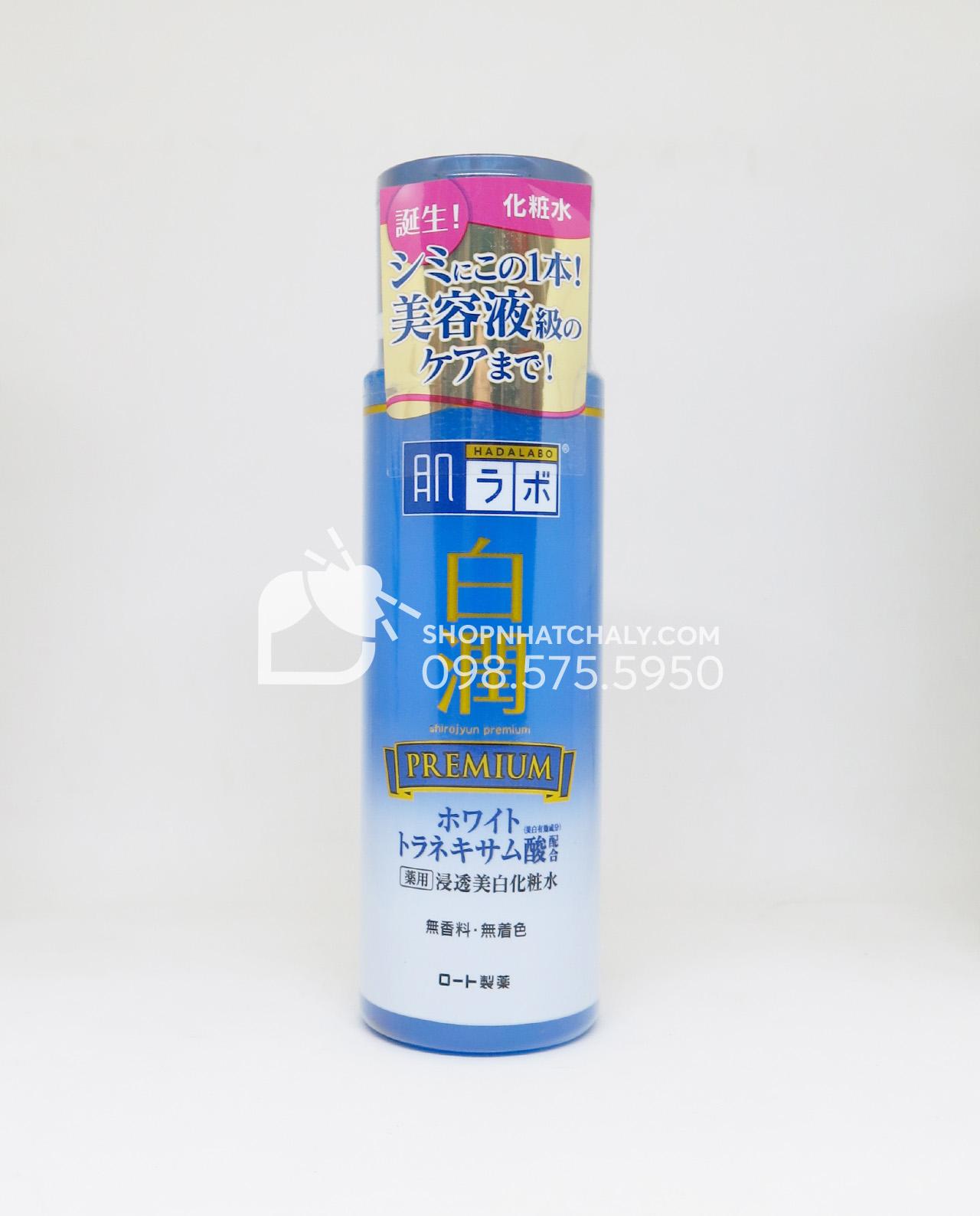 Nước hoa hồng trắng da Hada Labo Nhật Shirojyun Premium Whitening Lotion 170ml