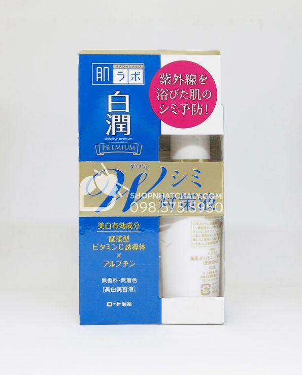 Serum dưỡng trắng da trị thâm nám Hada Labo Nhật Shirojyun Premium Whitening Essence