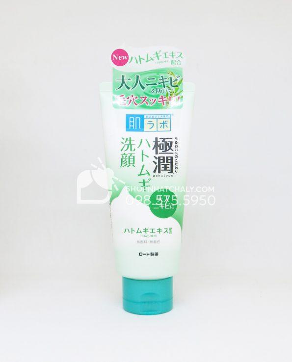 Sữa rửa mặt tạo bọt Hada Labo Nhật Bản dưỡng ẩm Gokujyun Foaming Cleanser tuýp 100gr cho da dầu da mụn