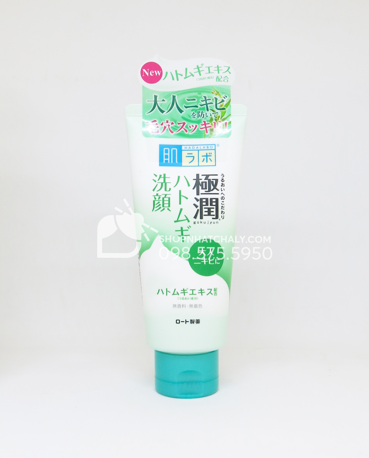 Sữa rửa mặt tạo bọt Hada Labo Gokujyun Foaming Cleanser tuýp 100gr cho da dầu da mụn