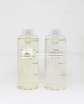 Dầu tẩy trang Muji Cleansing Oil Mild và Sensitive Nhật 200ml