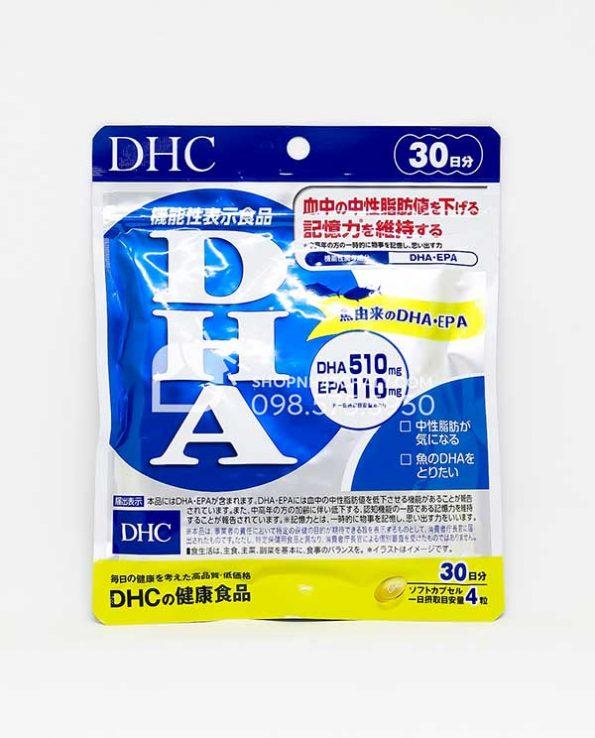 Vien DHA EPA cua DHC giam mo mau bo nao 120 vien 30 ngay mau moi 2021