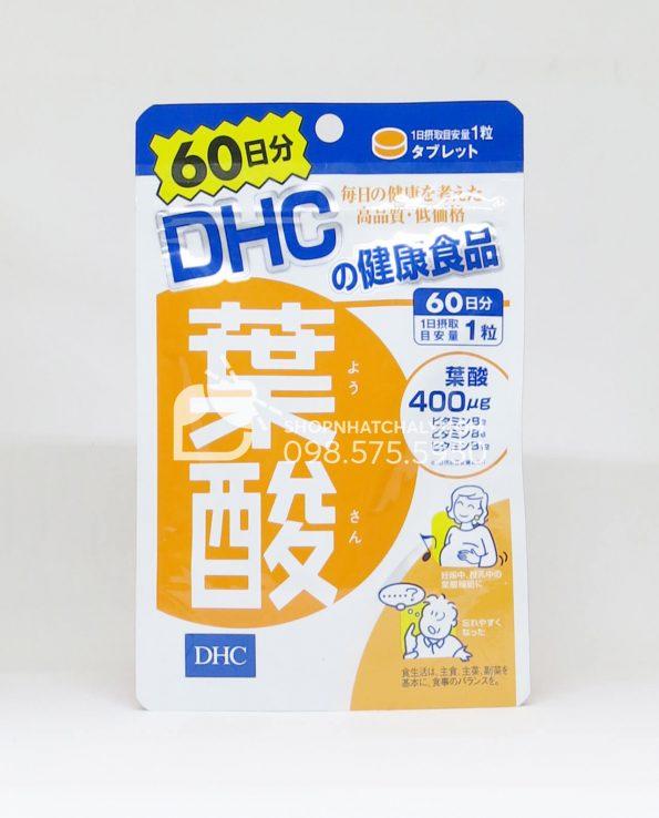 Viên acid folic cho bà bầu DHC 60 ngày