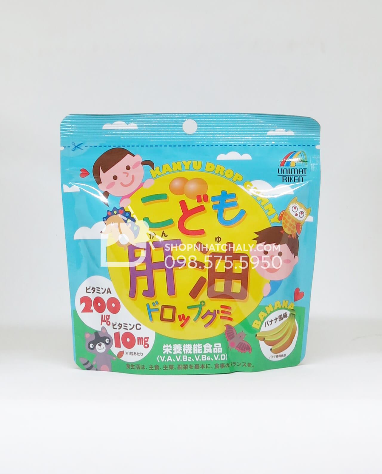 Viên dầu gan cá cho trẻ em Unimat Riken Nhật Bản