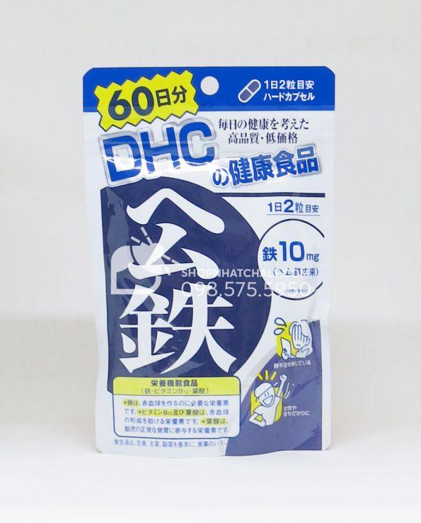 Viên uống bổ sung sắt DHC 60 ngày
