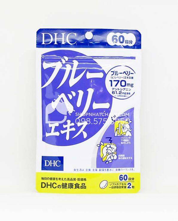 Vien viet quat blueberry bo mat cua DHC Nhat Ban mau moi 2021