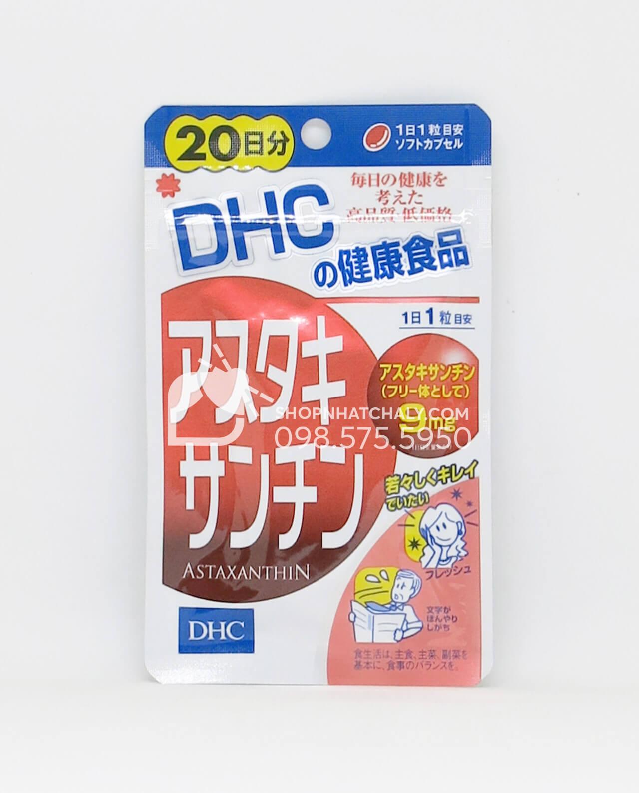 Viên uống Astaxanthin chống lão hoá DHC Nhật Bản