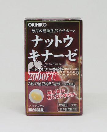 Thuốc chống - điều trị sau tai biến Nattokinase Orihiro Nhật mẫu mới 2018