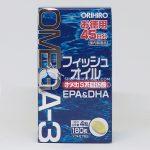 Viên dầu cá Omega 3 Orihiro Nhật Bản hộp 180 viên mẫu mới 2018