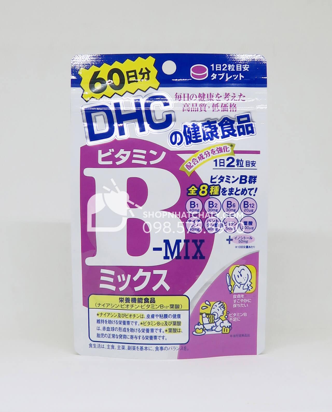 Viên uống vitamin nhóm B từ DHC Nhật Bản 120 viên