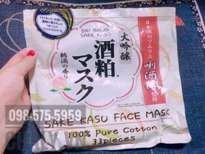 Túi mặt nạ sake kasu face mask nhật bản 33 miếng đang dùng dở của mình. Trị mụn cực tốt