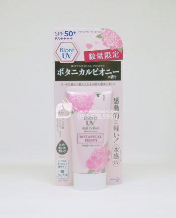 Kem chống nắng Biore Aqua Rich Botanical Peony hương hoa mẫu đơn