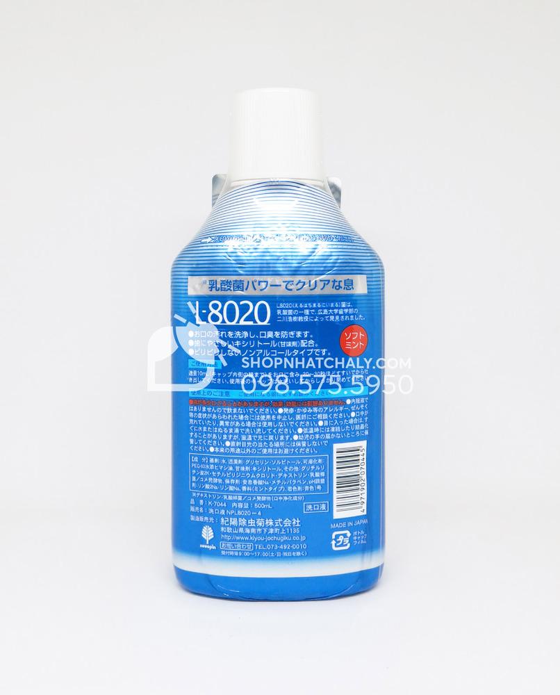 Nước súc miệng khử mùi L8020 - thông tin sản phẩm