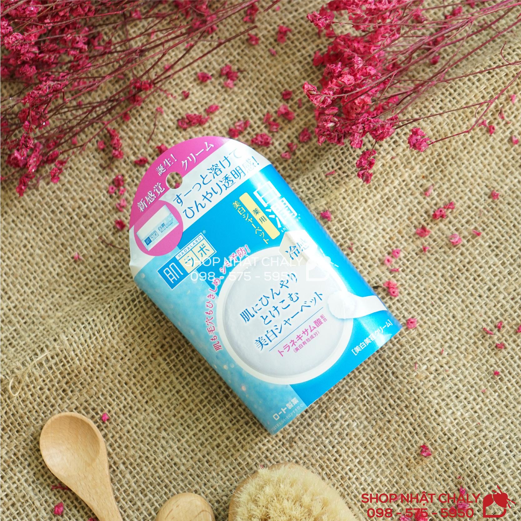 Kem lạnh dưỡng trắng da Hada Labo Shirojyun White Sherbet nội địa Nhật Bản
