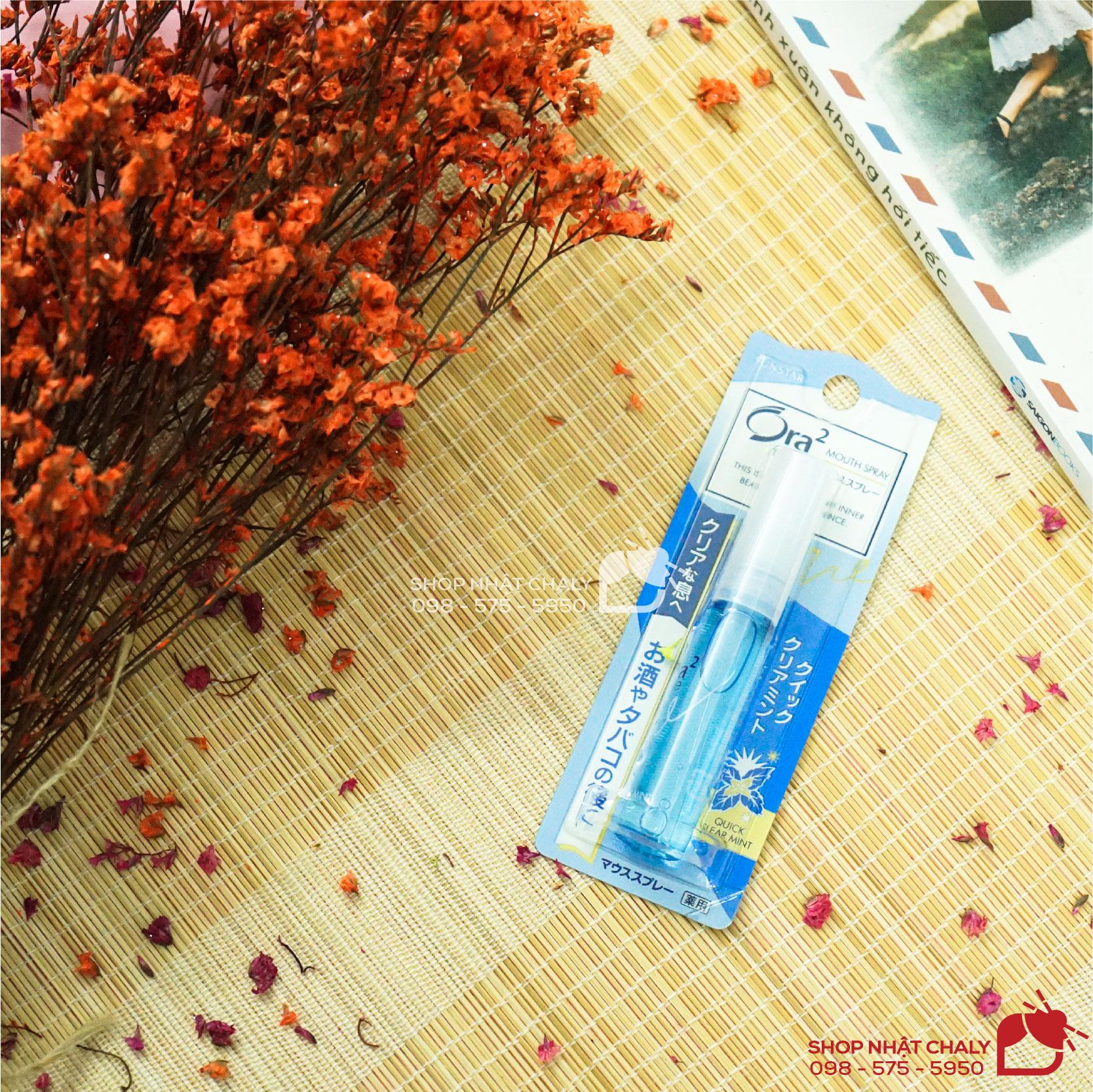 Chai xịt khử mùi hôi miệng của Nhật Sunstar Ora 2 Breath Fine giá rẻ, hiệu quả nhanh, tiện lợi để mang theo trong túi xách nên hầu như người Nhật nào cũng luôn có 1 chai để giữ hơi thở thơm mát, tự tin