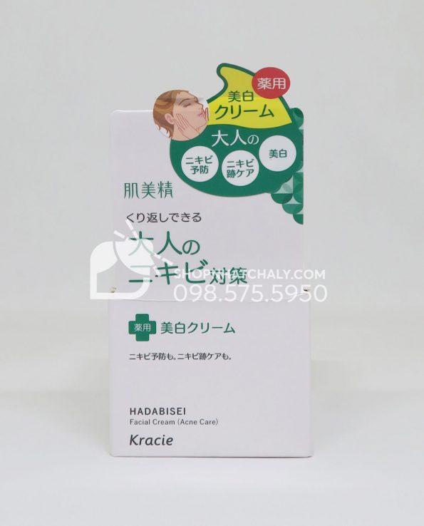 Kem dưỡng da trị mụn Kracie Hadabisei Acne Care Facial Cream