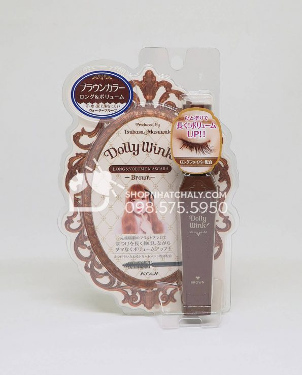 Mascara Dolly Wink Brown Long and Volume Water Proof