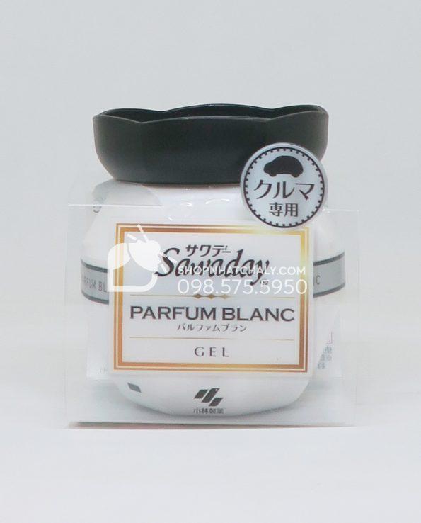 Sáp thơm khử mùi ô tô cao cấp Sawaday Parfum Blanc Nhật