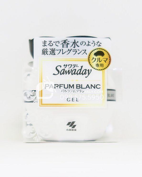 Sap thom o to cao cap Sawaday Parfum Blanc Nhat mau moi 2021