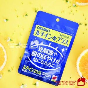 Viên chống ánh sáng xanh Lutein của Orihiro Nhật giúp ngăn ngừa lão hoá tế bào mắt, giúp sáng mắt, trị khô và đau mỏi mắt hiệu quả