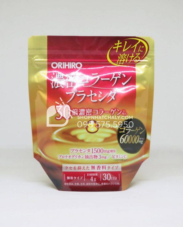 Bột Collagen nhau thai Orihiro 60000mg Nhật Bản