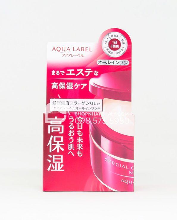 Kem duong chong lao hoa Shiseido Aqualabel All in One Special Gel Cream do mau moi 2021