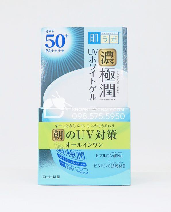 Kem dưỡng ngày Hada Labo Gokujyun 7 trong 1 UV White Gel SPF 50+ PA++++