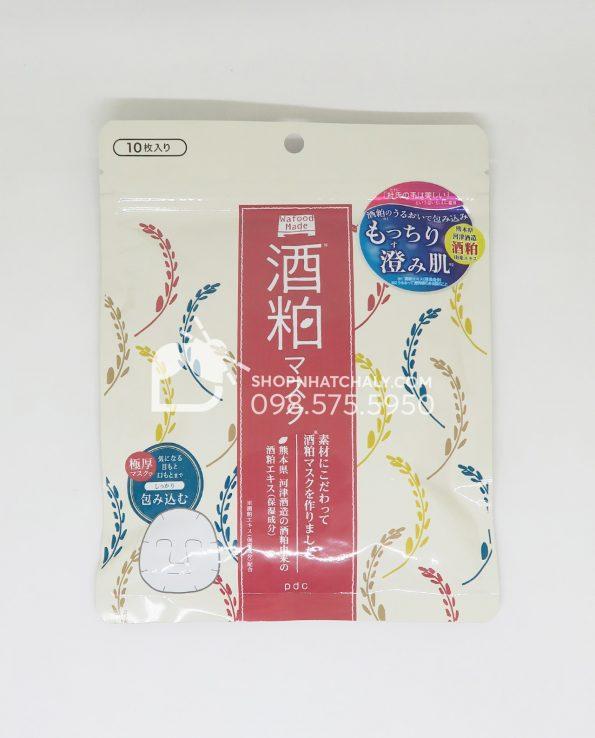 Mặt nạ sake PDC Wafood Made kiềm dầu sạch mụn túi 10 miếng