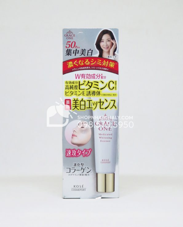 Serum trị nám tuổi trung niên Kose Grace One Medicated Whitening Essence Nhật Bản
