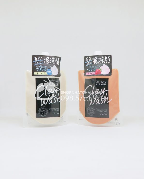 Sữa rửa mặt đất sét Utena Juicy Cleanse Clay Wash