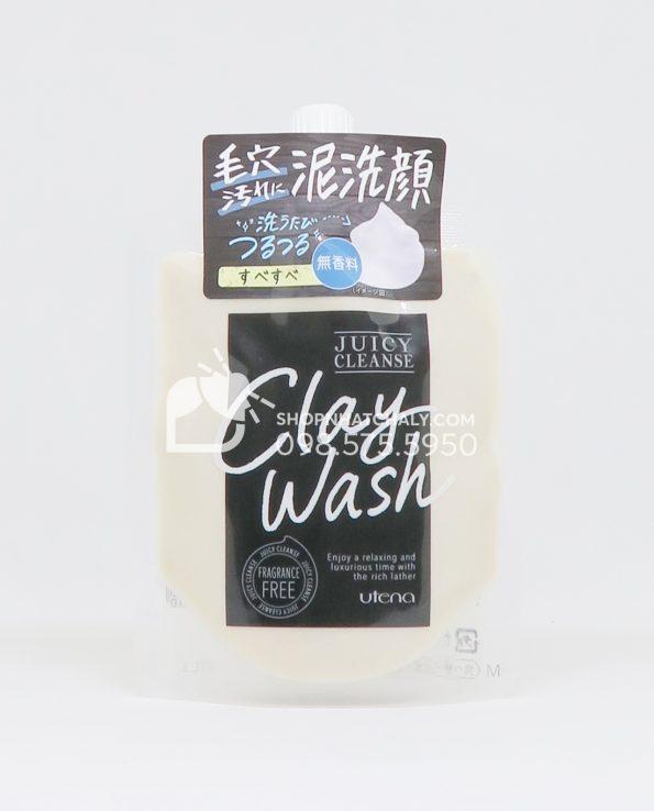 Sữa rửa mặt đất sét Utena Juicy Cleanse Clay Wash - Fragrance Free